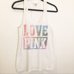 Victoria secret pink racer back tank top size S
